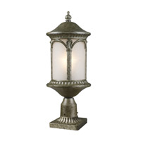 Z-Lite Hampton 1 Light Post Light in Antique Silver 2021PHM-AS-PM