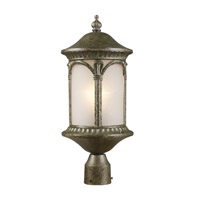Z-Lite Hampton 1 Light Post Light in Antique Silver 2021PHM-AS