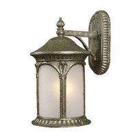 Z-Lite Hampton 1 Light Outdoor Wall Light in Antique Silver 2021S-AS