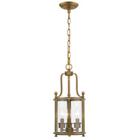 Z-Lite 205-3HB Wyndham 3 Light 9 inch Heirloom Brass Chandelier Ceiling Light in 8