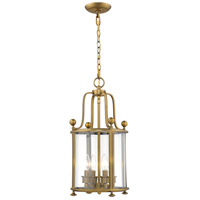 Z-Lite 205-4HB Wyndham 4 Light 12 inch Heirloom Brass Chandelier Ceiling Light