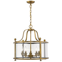 Z-Lite 205-5HB Wyndham 5 Light 21 inch Heirloom Brass Chandelier Ceiling Light in 24