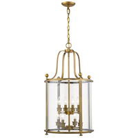 Z-Lite 205-8HB Wyndham 8 Light 18 inch Heirloom Brass Chandelier Ceiling Light in 27