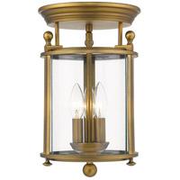 Z-Lite 205F-HB Wyndham 3 Light 9 inch Heirloom Brass Flush Mount Ceiling Light