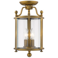 Z-Lite 205SF-HB Wyndham 3 Light 9 inch Heirloom Brass Semi Flush Mount Ceiling Light