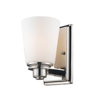 Z-Lite Nile 1 Light Vanity in Chrome/Matte Opal 2101-1V