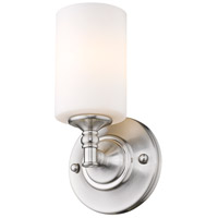 Z-Lite Cannondale 1 Light Wall Sconce in Brushed Nickel/Matte Opal 2102-1S