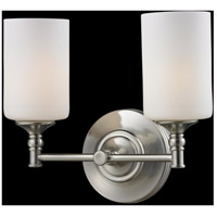 Z-Lite Cannondale 2 Light Vanity in Brushed Nickel/Matte Opal 2102-2V