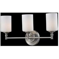 Cannondale 3 Light 22 inch Brushed Nickel/Matte Opal Vanity Wall Light