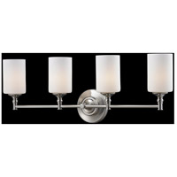 Z-Lite Cannondale 4 Light Vanity in Brushed Nickel/Matte Opal 2102-4V