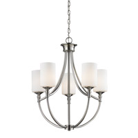 Cannondale 5 Light 20 inch Brushed Nickel/Matte Opal Chandelier Ceiling Light