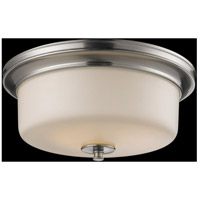 Z-Lite Cannondale 3 Light Flush Mount in Brushed Nickel/Matte Opal 2102F3