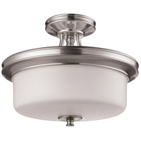 Z-Lite Cannondale 3 Light Semi-Flush Mount in Brushed Nickel/Matte Opal 2102SF
