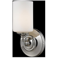 Z-Lite Cannondale 1 Light Wall Sconce in Chrome/Matte Opal 2103-1S