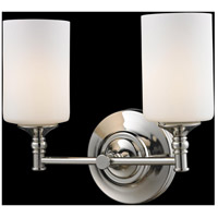 Cannondale 2 Light 13 inch Chrome/Matte Opal Vanity Wall Light