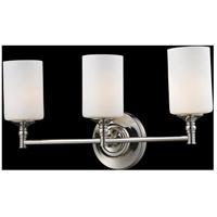 Z-Lite Cannondale 3 Light Vanity in Chrome/Matte Opal 2103-3V