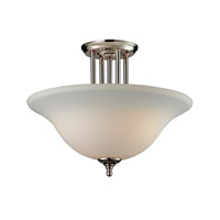 Z-Lite Athena 3 Light Semi Flush in Chrome 2108SF