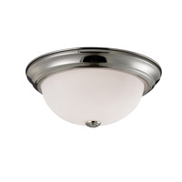Athena 3 Light 15 inch Brushed Nickel Flush Mount Ceiling Light