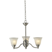 Athena 3 Light 20 inch Brushed Nickel Chandelier Ceiling Light