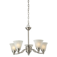Athena 5 Light 23 inch Brushed Nickel Chandelier Ceiling Light