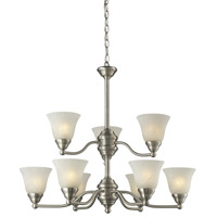 Athena 9 Light 23 inch Brushed Nickel Chandelier Ceiling Light