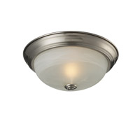 Z-Lite Athena 1 Light Flush Mount in Brushed Nickel 2110F1