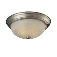 Athena 2 Light 13 inch Brushed Nickel Flush Mount Ceiling Light
