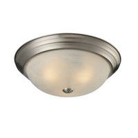 Z-Lite Athena 3 Light Flush Mount in Brushed Nickel 2110F3