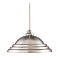 Martini 1 Light 16 inch Brushed Nickel Pendant Ceiling Light in Stepped Brushed Nickel