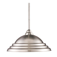 Riviera 1 Light 16 inch Brushed Nickel Pendant Ceiling Light in Pewter Metal