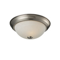 Z-Lite Athena 1 Light Flush Mount in Brushed Nickel 2111F1