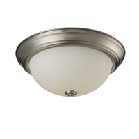 Z-Lite Athena 2 Light Flush Mount in Brushed Nickel 2111F2