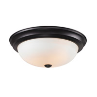 Athena 3 Light 15 inch Bronze Flush Mount Ceiling Light