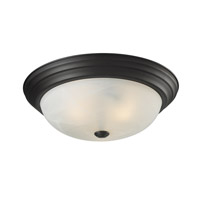 Z-Lite Athena 3 Light Flush Mount in Bronze 2113F3