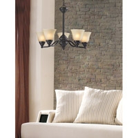 Z-Lite Athena 5 Light Chandelier in Bronze 2114-5 alternative photo thumbnail