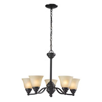 Athena 5 Light 23 inch Bronze Chandelier Ceiling Light