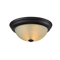 Z-Lite Athena 1 Light Flush Mount in Bronze 2114F1