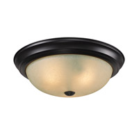 Z-Lite Athena 3 Light Flush Mount in Bronze 2114F3