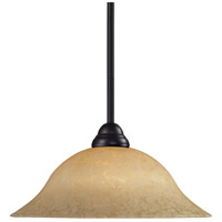 Cobra 1 Light 16 inch Bronze Billiard/Pendant Ceiling Light in Golden Mottle