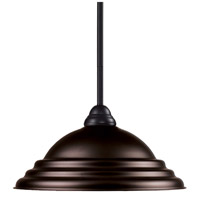 Z-Lite Riviera 1 Light Billiard/Pendant in Bronze 2114MP-BRZ-SBRZ