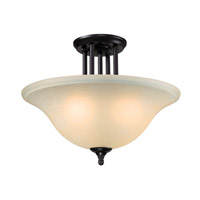 Z-Lite Athena 3 Light Semi Flush in Bronze 2114SF