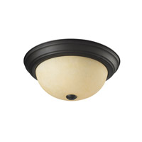 Z-Lite Athena 2 Light Flush Mount in Bronze 2115F2
