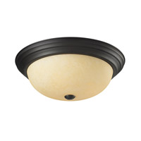 Z-Lite Athena 3 Light Flush Mount in Bronze 2115F3