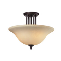 Z-Lite Athena 3 Light Semi Flush in Bronze 2115SF