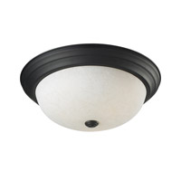 Z-Lite Athena 3 Light Flush Mount in Bronze 2116F3