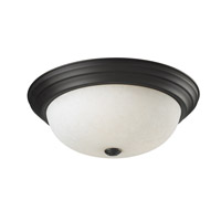 Z-Lite Athena 3 Light Flush Mount in Matte Black 2117F3
