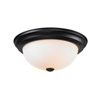 Z-Lite Athena 2 Light Flush Mount in Matte Black 2118F2