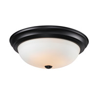 Z-Lite Athena 3 Light Flush Mount in Matte Black 2118F3