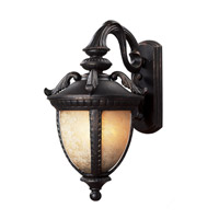 Z-Lite Winchester 2 Light Outdoor Wall Light in Black Gold 2141M-BG