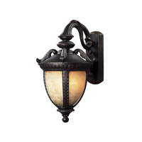 Z-Lite Winchester 1 Light Outdoor Wall Light in Black Gold 2141S-BG